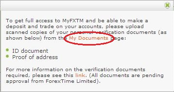 FXTM open real account